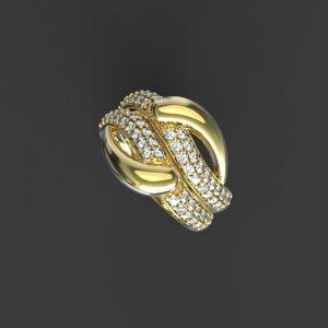 3д моделирование золотого кольца