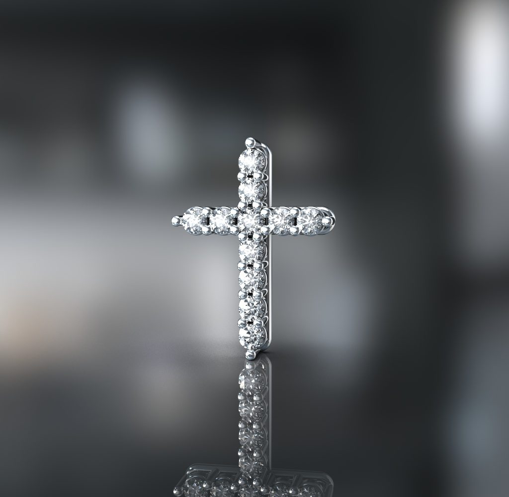 3д моделирование крестика с камнями 1024x998 - Для чего используется 3D моделирование?