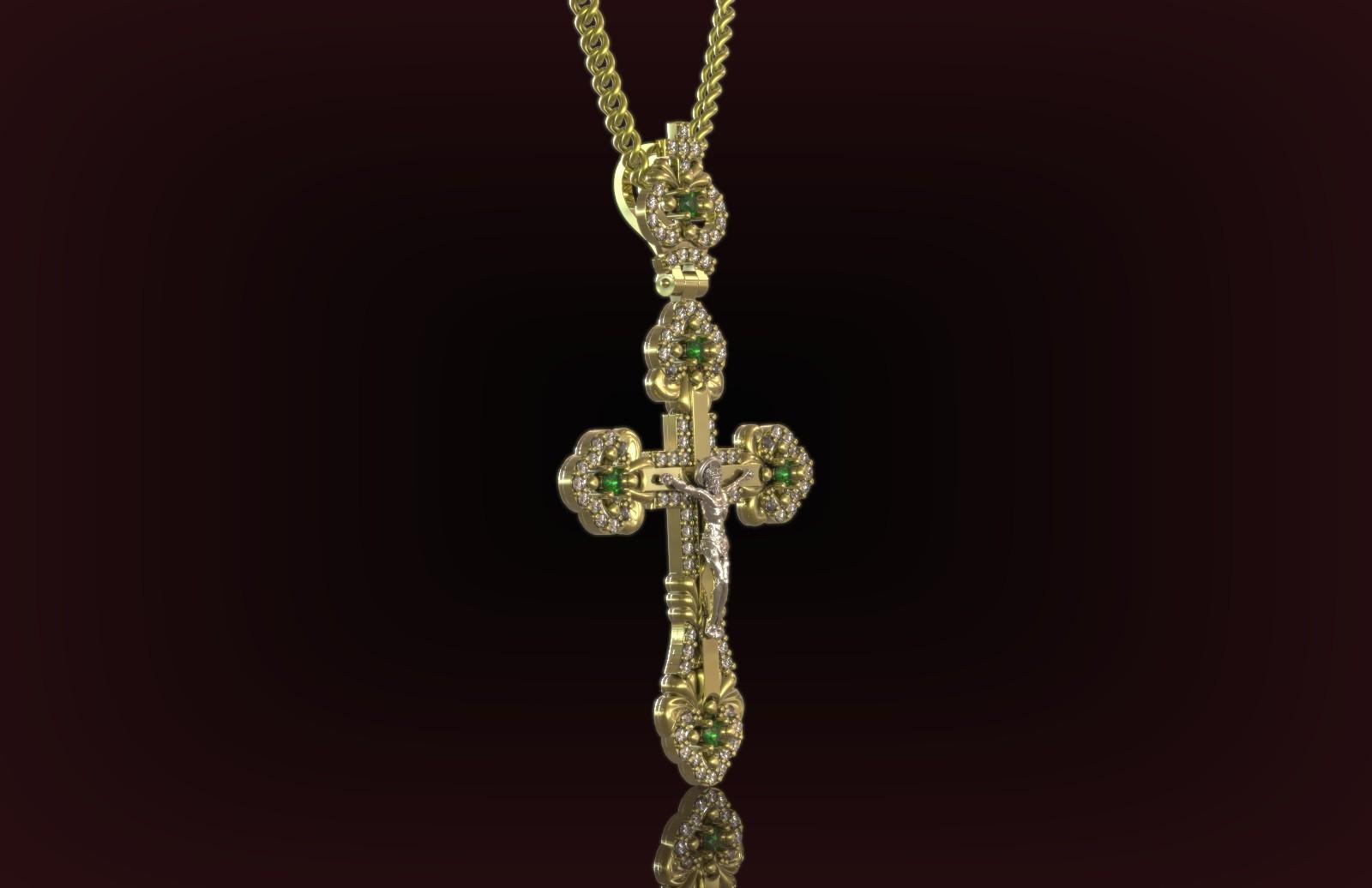 3д моделирование православного крестика
